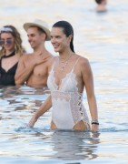 Alessandra Ambrosio - Swimsuit candids at the beach in Mykonos 7/2/17