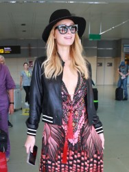 Paris Hilton - Arriving in Ibiza 7/2/17