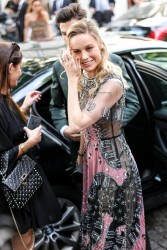 Brie Larson - Valentino Fashion Show in Paris 7/5/17