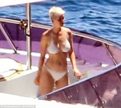 Katy Perry Wearing a Bikini on a Yacht in Italy - 7/11/17