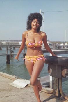 Pam Grier: 70's Bikini Pic - UHQ x 1